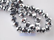 100pcs 4mm Rondelle Faceted Crystal Glass Loose Spacer Beads Wholesale Bulk Lot