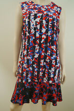 PETER PILOTTO For TARGET Red White & Blue Bold Print Sleeveless Summer Dress SzL