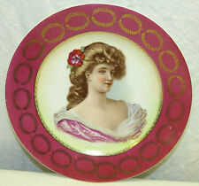 Antique Beehive Mark Porcelain Portrait Plate G Bonfils Royal Vienna Austria