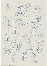 CD TENERIFE 1994-1995 SEASON ORIGINAL HAND SIGNED A4 SHEET 23 X SIGNATURES