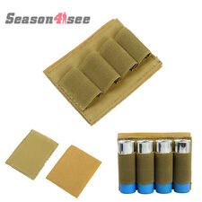 Tactical 4 Round Ammo Stiky Bullet Shotgun Shell Holder Carrier Strip Loop Tan