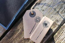 East of India Dandelion Wooden Rubber Stamp -  DIY Tags Cards Scrapbooking