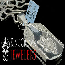Mens Genuine Real Diamond Maserati Key Pendant Charm White Gold Finish 2.75 Inch