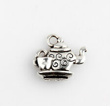 40pcs Tea Pot And Cup Tibetan Silver Charms Pendants Jewelry Making 6E4C5F