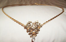 CELTIC ELVEN PRINCESS GOLD  &  AUSTRIAN CRYSTAL CIRCLET HEADRESS RENAISSANCE