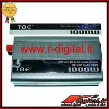 INVERTER 1000W 1000 WATT 12V 220V DOPPIA PRESA AUTO CAMPER PC PORTATILE TRAPANO