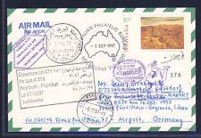 52172) LH FF Frankfurt - Beirut 26.10.97, Karte ab Australien