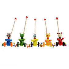 Cartoon Baby Coagent Toy Toddler Child Putting Animal Wooden Puzzle Trolley Game