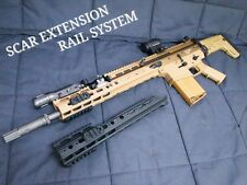 ANGRY GU* SCAR Extension Rail System Black WE SCAR GBB GBBR Airsoft Softair