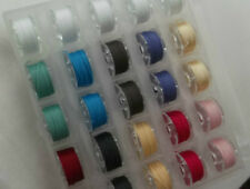 25 Sewing machine Bobbins loaded with quality thread plus storage case.option 2