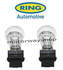 2 x R180 12v 27/7w W2.5x16d Car Bulb Stop & Tail (180) Ring P27/7w 3157 NEW