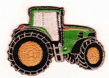 Iron On/ Sew On Embroidered Patch Badge Tractor Farm Farmer Green