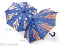 Blue Colour Changing Kids Umbrella Rocket by Think Pink