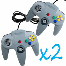 2 PCS NEW Long Controller Game System for Nintendo 64 N64 Grey US Ship