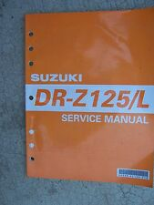 2002 Suzuki DR-Z125/L Motorcycle Service Manual Inspection Overhaul Engine S