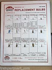 MODEL POWER LIGHT BULB CHART WITH BULBS  MULTI SCALE FACTORY ORIGINAL PARTS