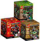 3 MINECRAFT LEGO SETS Forest Village Nether 21102 21105 21106 MICRO WORLD