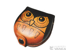 Owl Handmade Genuine 3D Leather Animal Coin case/Purse VANCA Made in Japan 26273