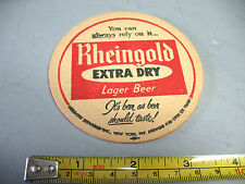 RHEINGOLD  EXTRA  DRY  LAGER BEER   COASTER   NICE  COND. LIEBMANN  BREWING N Y