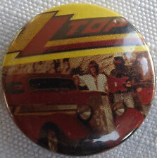 "ZZ TOP Old Vtg 1980`s  Button Pin Badge(25mm-1"") #NB.126"