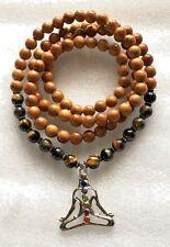 Yoga Wrap Mala Beads Necklace, Tiger Eye 108 Wrap Mala Beads,Brown Wrap Mala