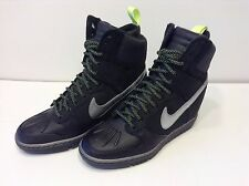 NIKE WMNS DUNK SKY-HI SNKRBT 2.0 / Wedge Sneakerboots - BLACK - UK4/ UK37.5- NEW
