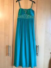 Jane Norman Jade Green Ladies Maxi Embellished evening/cocktail dress size 14