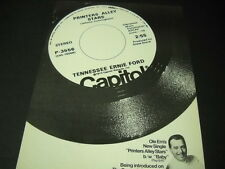 TENNESSEE ERNIE FORD on SONNY & CHER SHOW March 14, 1973 PROMO POSTER AD mint