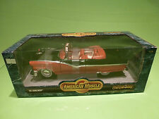 ERTL AMERICAN MUSCLE 7258 FORD SUNLINER CONVERTIBLE 1956 - RED BLACK 1:18 - NMIB
