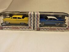 (2) M2 Machines 1:64 Ground Pounders....1957 CHEVROLET150 & 1958 PLYMOUTH FURY