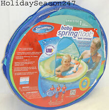 Baby Spring Float W/ Canopy 9-24 Mo Pool Floatation Device Water Training Swim 1