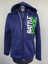 NEW W/ TAG! Battle Frog Battlefrog Obstacle Race Full Zip Blue Hoodie Sz XS