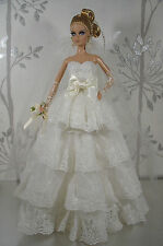 BARBIE DOLL ROBE DE MARIÉE WEDDING GOWN #01928