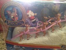 Rudolph the Red Nosed Reindeer Santa's Sleigh and Reindeer Team with Music Set