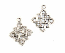 15pcs Tibetan Silver Crafts Chinese knot Findings Connectors TA994
