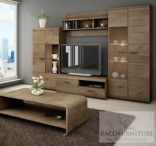 "TV Wall Unit ""LENA"" Set of Living room Furniture /4 piece wall unit/LED lighting"