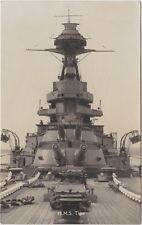 "Royal Navy Postcard. HMS ""Tiger"" Battlecruiser. A & B Turrets. Mk V Guns. c 1913"