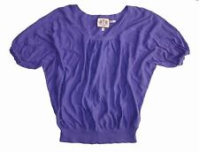 JUICY COUTURE WOMEN'S CASUAL BLOUSE SWEATER PURPLE Size M SHORT SLEEVE