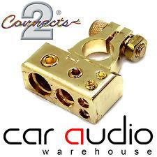 0/4/8 Awg Gauge Gold Car Van Truck Negative Battery Post Terminal Clamps CT37-37