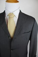 Hugo Boss Rossellini Movie Super 110 Suit Size 38S (30x28) Flat Front Gray 3 Btn