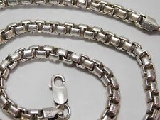 """Solid 925 Sterling Silver Chunky 5.25mm Thick Box Link Chain Necklace 20.5"""""""