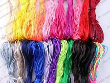 Bulk 22rolls 2mm Nylon Satin Jewelry Beading Cord Macrame Rattail Braided Thread