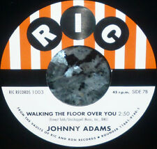 "* * 1500 PRESSED! UNISSUED ""WALKING THE FLOOR OVER YOU"" JOHNNY ADAMS MINT 45!"