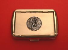 St Christopher Tobacco Tin Smoking Accessories Gift Safe Journey Travellers Gift