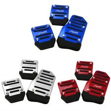 3pcs Car Vehicle Non-slip Alloy Pad Pedal Aluminium Foot Treadle Cover XC