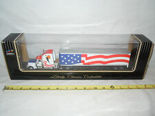 American Flag Peterbilt Semi With Van Trailer  By Liberty Classics  1/64th Scale