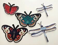 Set of 5 pcs / Dragonfly patch /butterfly Patch/ Embroidered patch/Sew on patch
