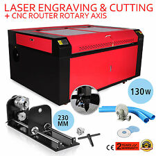 130W CO2 LASER ENGRAVING CNC ROTARY AXIS A-AXIS CUTTER 230MM TRACK NEWEST DESIGN