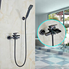 Single Handle Waterfall Bath Tub Spout Shower Faucet Wall Mount with Hand Shower