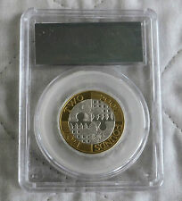 2007 UK ACT OF UNION £2 SILVER PROOF SLABBED CGS 98
